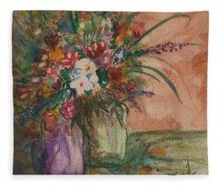 Flowers In Vases 2 Fleece Blanket