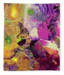 Flowers Of The Cosmic Sea Fleece Blanket