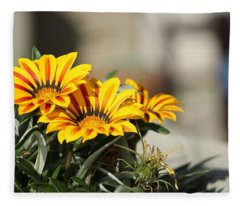 Flowers Up Close Fleece Blanket