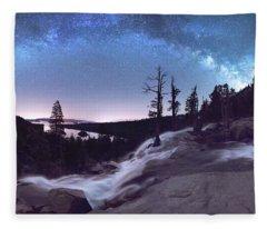 Flowing Dreams - Emerald Bay By Brad Scott Fleece Blanket
