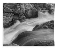 Flowing Waters At Kern River, California Fleece Blanket
