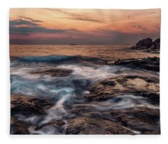 Flowing Waters Fleece Blanket