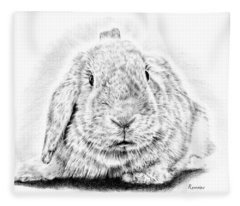 Fluffy Bunny Fleece Blanket
