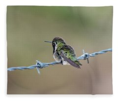Fluffy Hummingbird Fleece Blanket