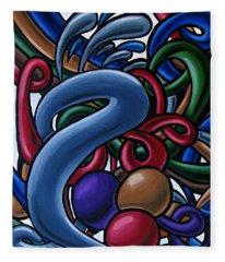 Fluid 1 - Abstract Art Painting - Chromatic Fluid Art Fleece Blanket