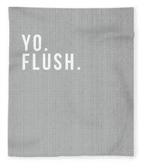 Flush- Art By Linda Woods Fleece Blanket