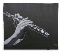 Flute Hands Fleece Blanket