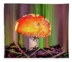Fly Agaric #g7 Fleece Blanket