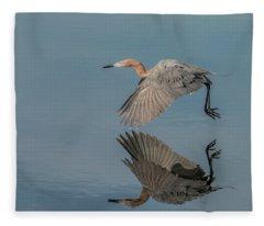 Fly By Reflection Fleece Blanket