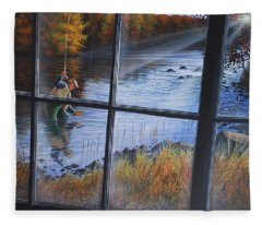 Fly Fisher Fleece Blanket