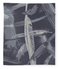 Flying Featherabstract Background Fleece Blanket