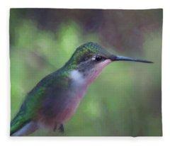 Flying Flower Fleece Blanket