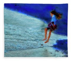 Flying From One Ocean To Another Fleece Blanket