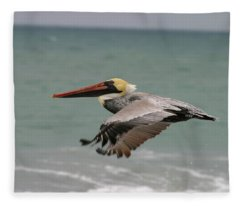 Flying Pelican Fleece Blanket