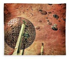 Flying Saucers Fleece Blanket
