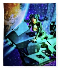 Flying Through Galaxies Fleece Blanket