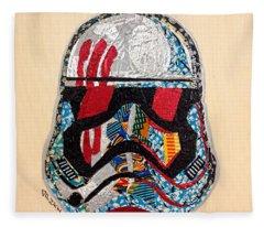 Storm Trooper Fn-2187 Helmet Star Wars Awakens Afrofuturist Collection Fleece Blanket