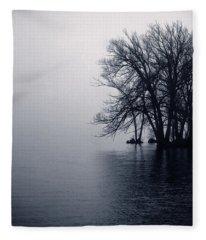 Fog Day Afternoon Fleece Blanket