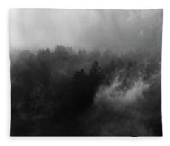 Fog Forest Fleece Blanket
