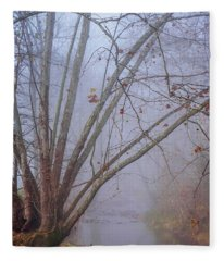 Fog On Buffalo Creek 1 Fleece Blanket
