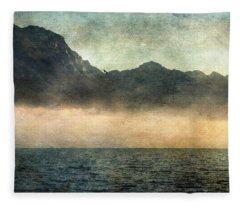 Fog On Garda Lake Fleece Blanket