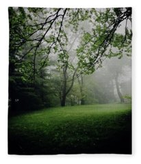 Fog On The Green Fleece Blanket