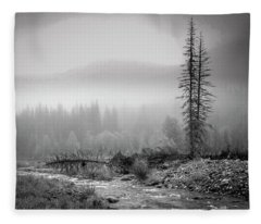 Fog On The Mountains Fleece Blanket