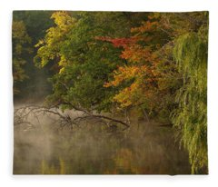Fog Rolls Into Fall Fleece Blanket