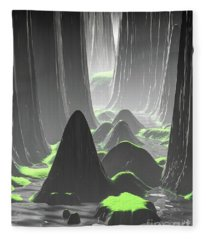 Foggy Canyon Walls Fleece Blanket