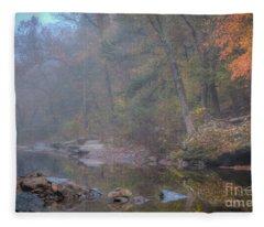 Foggy Fall Fleece Blanket