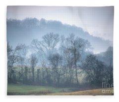 Foggy Hills Fleece Blanket