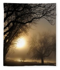 Foggy Morn Fleece Blanket
