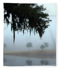 Foggy Morn Reflections Fleece Blanket
