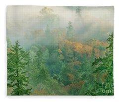 Foggy Morning In Humbolt County California Fleece Blanket