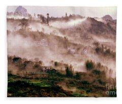Foggy Sound Of Vietnam Fleece Blanket