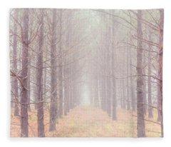 Foggy Walk  Fleece Blanket