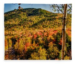 Foliage View From Crawford Notch Road Fleece Blanket
