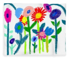 Folk Garden Fleece Blanket