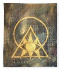 Follow The Light - Illuminati And Binary Fleece Blanket