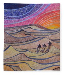 Follow The Star   Fleece Blanket