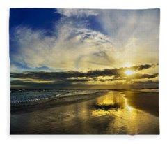 Follow The Sun Fleece Blanket