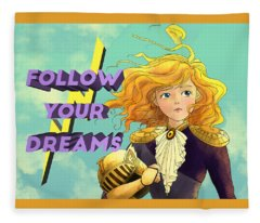Follow Your Dreams Fleece Blanket