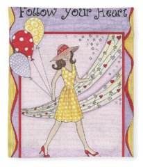 Follow Your Heart Fleece Blanket