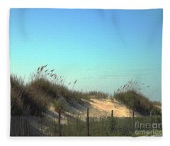 Folly Beach Sc Dunes Fleece Blanket