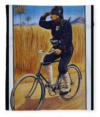 Fongers In Gebruik Bil Nederlandsche En Nederlndsch Indische Leger Vintage Cycle Poster Fleece Blanket