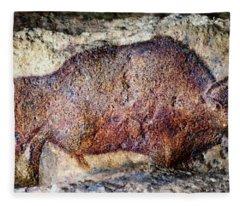 Font De Gaume Bison Fleece Blanket
