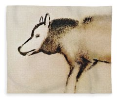 Font De Gaume Wolf Fleece Blanket