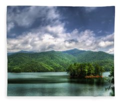 Fontana Lake Lighter Fleece Blanket