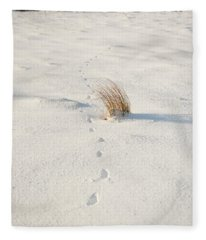 Footprints In The Snow II Fleece Blanket