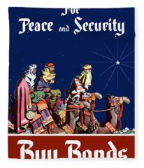 For Peace And Security - Buy Bonds Fleece Blanket
